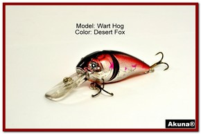 "Akuna Wart Hog 3.4"" Diving Jointed Fishing Lure in color ""Desert Fox"" [BP 107-79]"