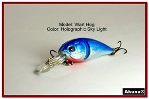 "Akuna Wart Hog 3.4"" Diving Jointed Fishing Lure in color ""Sky Light"" [BP 107-83]"