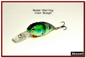 "Akuna Wart Hog 3.4"" Diving Jointed Fishing Lure in color ""Bluegill"" [BP 107-97]"