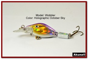 "Akuna Wobbler 2.6"" Sinking Jointed Fishing Lure in color ""October Sky""[BP 110-82]"
