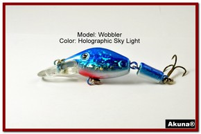 "Akuna Wobbler 2.6"" Sinking Jointed Fishing Lure in color ""Sky Light""[BP 110-83]"