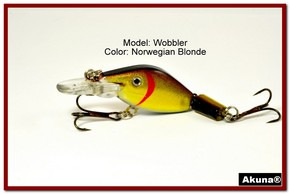 "Akuna Wobbler 2.6"" Sinking Jointed Fishing Lure in color ""Norwegian Blonde""[BP 110-92]"