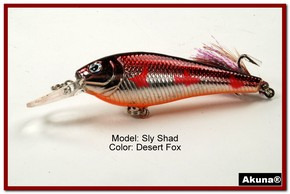 "Akuna Sly Shad 3.5"" Crankbait Fishing Lure in color ""Desert Fox""[BP 118-79]"