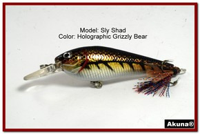 "Akuna Sly Shad 3.5"" Crankbait Fishing Lure in color ""Grizzly Bear""[BP 118-88]"