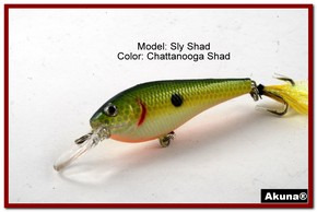 "Akuna Sly Shad 3.5"" Crankbait Fishing Lure in color ""Chattanooga Shad""[BP 118-99]"