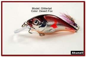 Akuna Glittertail 3 inches Crankbait Fishing Lure in Desert Fox [BP 131-79]