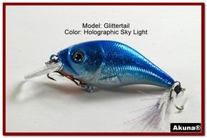 Akuna Glittertail 3 inches Crankbait Fishing Lure in Sky Light [BP 131-83]
