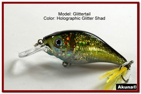 Akuna Glittertail 3 inches Crankbait Fishing Lure in Glitter Shad [BP 131-85]