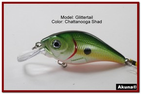Akuna Glittertail 3 inches Crankbait Fishing Lure in Chattanooga Shad [BP 131-99]