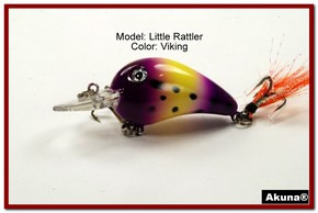 "Akuna Little Rattller 2.3"" Crankbait Fishing Lure in Viking [BP 132-33]"