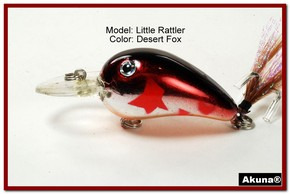 "Akuna Little Rattller 2.3"" Crankbait Fishing Lure in Desert Fox [BP 132-79]"
