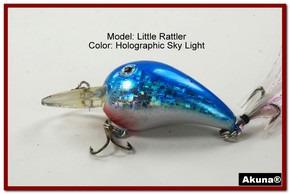 """Akuna Little Rattller 2.3"""" Crankbait Fishing Lure in Sky Light [BP 132-83]"""