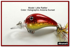 "Akuna Little Rattller 2.3"" Crankbait Fishing Lure in AZ Sunset [BP 132-84]"