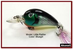 "Akuna Little Rattller 2.3"" Crankbait Fishing Lure in Bluegill [BP 132-97]"