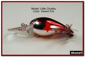 "Akuna Little Chubby 3"" Crankbait Fishing Lure in Desert Fox [BP 133-79]"