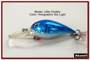 "Akuna Little Chubby 3"" Crankbait Fishing Lure in Sky Light [BP 133-83]"