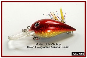 "Akuna Little Chubby 3"" Crankbait Fishing Lure in AZ Sunset [BP 133-84]"