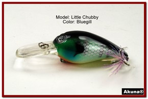 "Akuna Little Chubby 3"" Crankbait Fishing Lure in Bluegill [BP 133-97]"