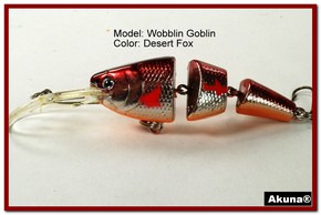Akuna Wobblin Goblin 3.5 Jointed  Fishing Lure in color Desert Fox [BP 20-79]