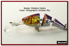 Akuna Wobblin Goblin 3.5 Jointed  Fishing Lure in color October Sky [BP 20-82]