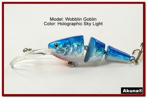 Akuna Wobblin Goblin 3.5 Jointed  Fishing Lure in color Sky Light [BP 20-83]