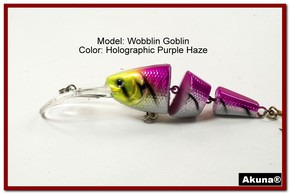 "Akuna Wobblin Goblin 3.5"" Jointed  Fishing Lure in color Purple Haze [BP 20-87]"