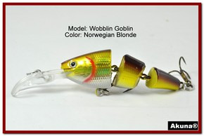 Akuna Wobblin Goblin 3.5 Jointed  Fishing Lure in color Norwegian Blonde [BP 20-92]