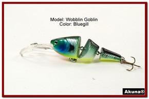 Akuna Wobblin Goblin 3.5 Jointed  Fishing Lure in color Bluegill [BP 20-97]