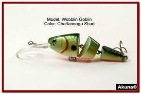Akuna Wobblin Goblin 3.5 Jointed  Fishing Lure in color Chattanooga Shad [BP 20-99]