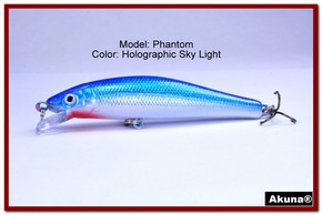 "Akuna Phantom  3.5 inch Shallow Diving Lure in color ""Holographic Sky Light"" [BP 32-83]"