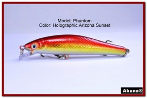 "Akuna Phantom  3.5 inch Shallow Diving Lure in color ""Holographic Blaze"" [BP 32-84]"