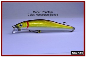 "Akuna Phantom  3.5 inch Shallow Diving Lure in color ""Norwegian Blonde"" [BP 32-92]"