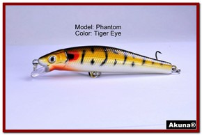"Akuna Phantom  3.5 inch Shallow Diving Lure in color ""Tiger Eye"" [BP 32-94]"