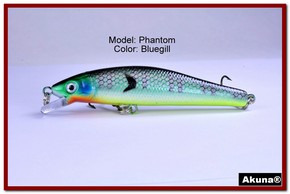 "Akuna Phantom  3.5 inch Shallow Diving Lure in color ""Bluegill"" [BP 32-97]"
