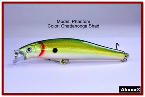 "Akuna Phantom  3.5 inch Shallow Diving Lure in color ""Chattanooga Shad"" [BP 32-99]"