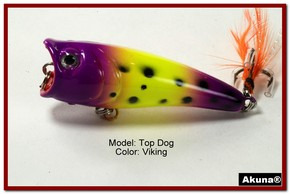 "Akuna Top Dog 2.4"" Popper Fishing Lure in Viking [BP 48-33]"