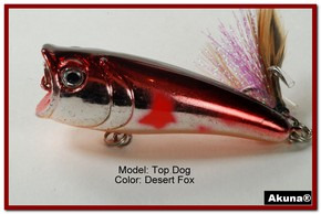 "Akuna Top Dog 2.4"" Popper Fishing Lure in Desert Fox [BP 48-79]"