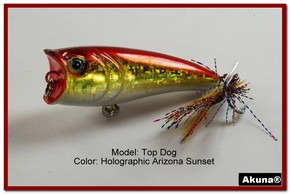 "Akuna Top Dog 2.4"" Popper Fishing Lure in AZ Sunset [BP 48-84]"