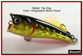 "Akuna Top Dog 2.4"" Popper Fishing Lure in Blue Moon [BP 48-86]"