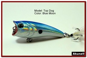 "Akuna Top Dog 2.4"" Popper Fishing Lure in Blue Moon [BP 48-95]"
