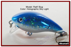 "Akuna Ratt'l Bug 2.6"" Crankbait Fishing Lure in color ""Sky Light"" [BP 52-83]"