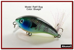 "Akuna Ratt'l Bug 2.6"" Crankbait Fishing Lure in color ""Bluegill"" [BP 52-97]"