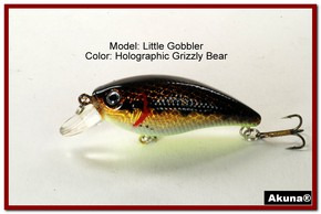 "Akuna Little Gobbler 2.9"" Crankbait Fishing Lure in Grizzly Bear [BP 54-88]"