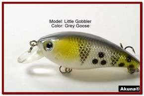 "Akuna Little Gobbler 2.9"" Crankbait Fishing Lure in Grey Goose [BP 54-96]"