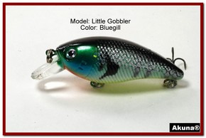 "Akuna Little Gobbler 2.9"" Crankbait Fishing Lure in Bluegill [BP 54-97]"