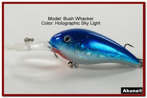 "Akuna Bush Whacker 4"" Diving Fishing Lure in  Sky Light [BP 55-83]"