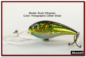 "Akuna Bush Whacker 4"" Diving Fishing Lure in  Glitter Shad [BP 55-85]"