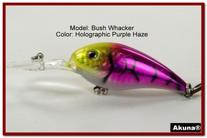 "Akuna Bush Whacker 4"" Diving Fishing Lure in  Coral Snake [BP 55-87]"