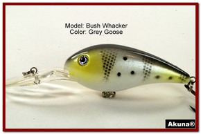 "Akuna Bush Whacker 4"" Diving Fishing Lure in  Norwegian Blonde [BP 55-96]"