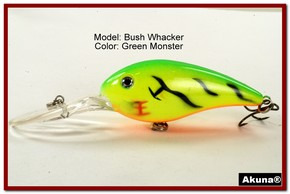 "Akuna Bush Whacker 4"" Diving Fishing Lure in  Grey Goose [BP 55-98]"
